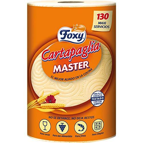 Foxy Bobina asciugatutto cartapaglia master monorotolo – CARTONE CONTENENTE 10 ROTOLI