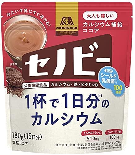 【3個セット】森永製菓 セノビー 180g 1杯で1日分のカルシウム