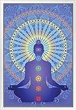 Chakra Mandala Poster 30,5 x 45,7 cm Framed in White Wood