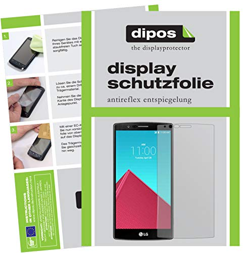 dipos I 6X Schutzfolie matt kompatibel mit LG G4 Folie Bildschirmschutzfolie