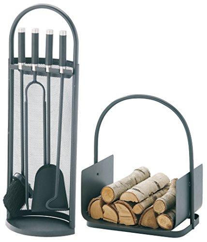MCT Serviteur de cheminée accessoires-set, anthracite recouvert 2002230, Multicolore
