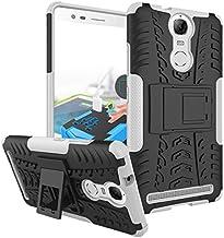 TiHen Funda Lenovo K5 Note/A7020 360 Grados Protective con Pantalla de Vidrio Templado. Caso Carcasa Case Cover Skin móviles telefonía Carcasas Fundas para Lenovo K5 Note/A7020 - Blanca