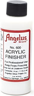 Angelus Brand Acrylic Finisher, Gloss No. 600, 4 Ounce Bottle (600-04-000)