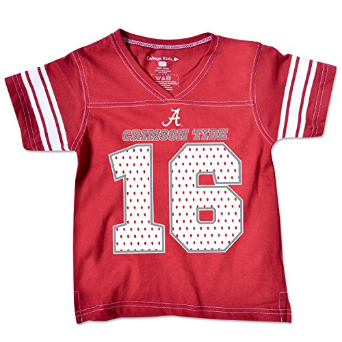 NCAA Alabama Crimson Tide Toddler Football Tee, 5/6 Toddler, Cardinal