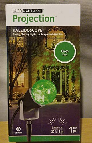 Gemmy 0783901 Green Lightshow Projection Kaleidoscope Outdoor Yard Stake Holiday Decoration