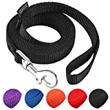 AMAGOOD 6 FT Puppy/Dog Leash, Strong and Durable Traditional Style Leash with Easy to Use Collar Hook,Dog Lead Great for Small and Medium and Large Dog(Black,5/8