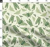 Zikade, Handgemalt, Füller Und Tinte, Grün, Natur Stoffe