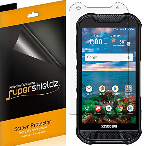 (6 Pack) Supershieldz for Kyocera (DuraForce Pro 2) Screen Protector, High Definition Clear Shield (PET)