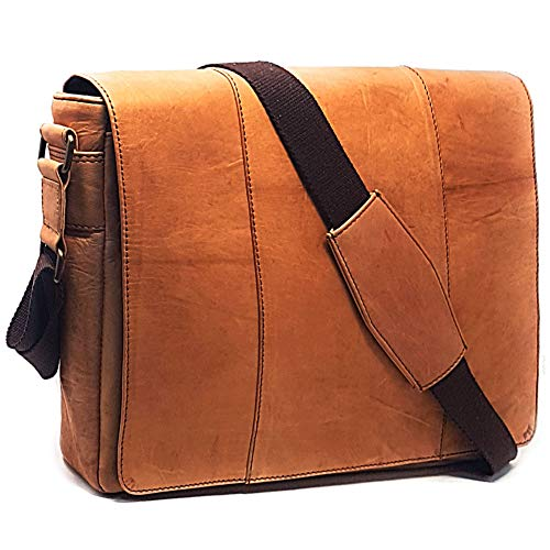 Laptop Messenger and Shoulder Bag - Leather Crossbody Office Bag - Unisex