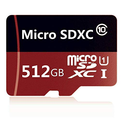 Micro SD Card 512GB Class 10 Memory Card High Speed Micro SD SDXC Card with SD Adapter