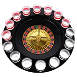 IPOTCH Bere Roulette Set Vino Gioco con Casinò Spin Shot Vetro Partito Bar Partita...