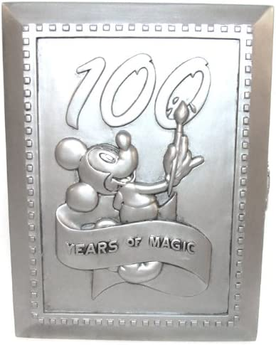 Disney 100 Years Magic Mickey Painting Pewter Picture Frame Case Pin 18347