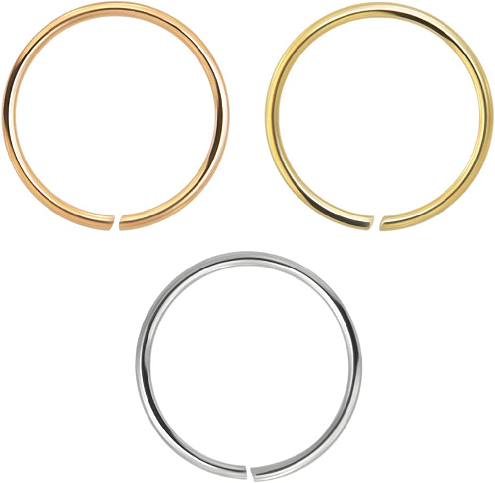 PiercingPoint 3 gift Pieces Box Set of 9 Gold 20 - Solid Gauge Karat OFFicial mail order