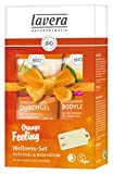 lavera Pflegeset ∙ Vitalisierendes Duschgel & Bodylotion Orange im Kosmetik Set ∙ vegan  Bio...