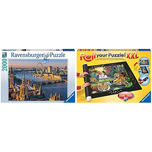Ravensburger Puzzle 16627 - Stimmungsvolles London - 2000 Teile Puzzle, Stadt-Puzzle mit London-Motiv & Roll Your Puzzle XXL - Puzzlematte für Puzzles mit bis zu 3000 Teilen
