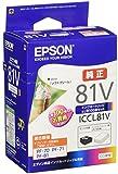 セイコーエプソン セイコーエプソン インクカートリッジ ICCL81V 4色一体タイプ 写真用紙ライト100枚