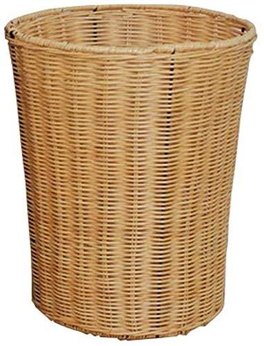 MISLD Ratán Tejido De Cesta De Mimbre Agua Bin Jacinto, Cestas (2,1/3,2/5,3 litros) Tanque (Amarillo, tamaño: 12l)