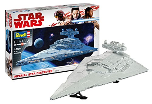 Revell Maqueta Wars Imperial Star Destroyer, Kit Modelo, Escala 1:2700 (6719)(06719), 60,0 cm de Largo