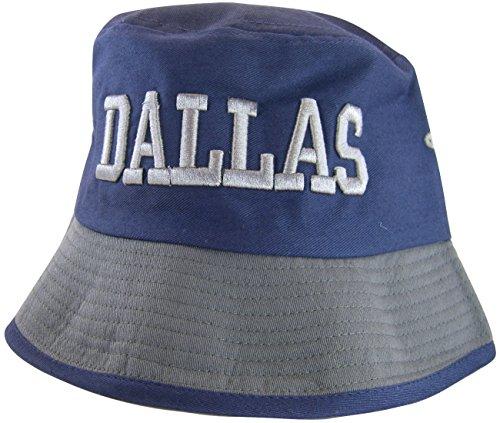 Dallas Men's Adult Size 2-Tone Bucket Hats (Navy Blue/Gray)