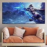 NIMCG Pintura Impresa Wall Artwork 1 Set Sexy Archery Woman Pictures Modular Canvas Game Character Poster Decoración del hogar Sala de Estar (Sin Marco) R1 70x140CM