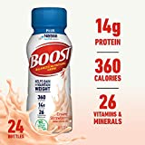 Boost Plus Complete Nutritional Drink, Creamy Strawberry, 8 fl oz Bottle, 24 Pack (Packaging May Vary)