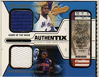 d2e95cb2d31 2003-04 Fleer Authentix Jersey Game of the Week Tracy McGrady Ben Wallace  Dual Game