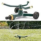 Vale la Pena automático rotación de aspersor de jardín, extraíble Patio césped riego pulverizador agua Jet con Tandem sistema