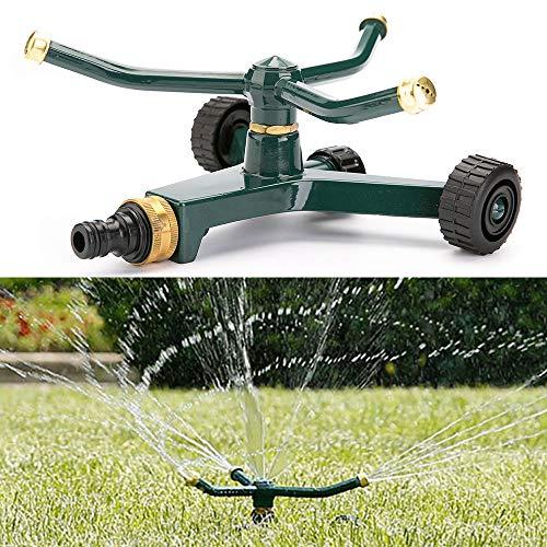 Worth Garden Arroseur rotatif automatique et amovible pour irrigation de pelouse de jardin avec système en tandem