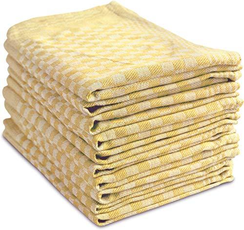 Bild normani 10 x Geschirrtücher, Geschirrtuch, Küchentuch, Abtrocktuch waschbar bis 60°C Farbe Xiros Gelb