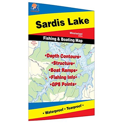 Sardis Lake Fishing Map