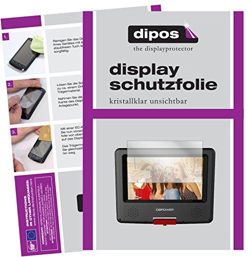 dipos I 3X Schutzfolie klar kompatibel mit DBPower 7,5 Zoll Tragbarer DVD-Player Folie Bildschirmschutzfolie