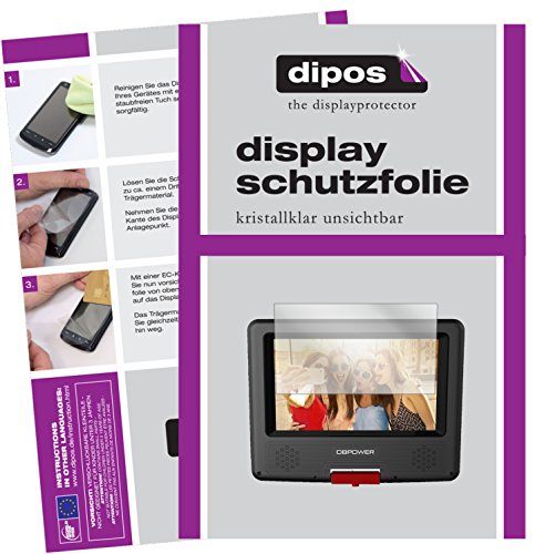 dipos I 3X Schutzfolie klar kompatibel mit DBPower 7,5 Zoll Tragbarer DVD-Player Folie Displayschutzfolie