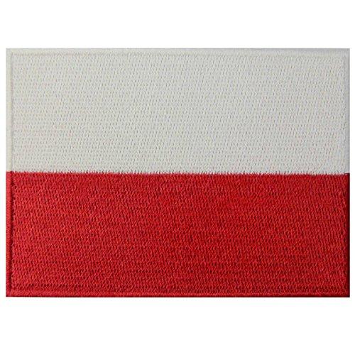 Polen Flagge Polieren Nationales Emblem Bestickter Aufnäher zum Aufbügeln/Annähen