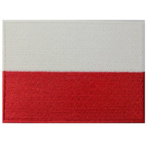 Bandiera della Polonia Polacco Emblema Nazionale Termoadesiva Cucibile Ricamata Toppa