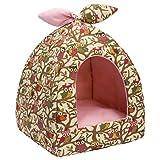 Hollypet Auto-Calentamiento 2-in-1 Casa cómoda Plegable de la Tienda de la Cama del Gato del Animal doméstico del triángulo