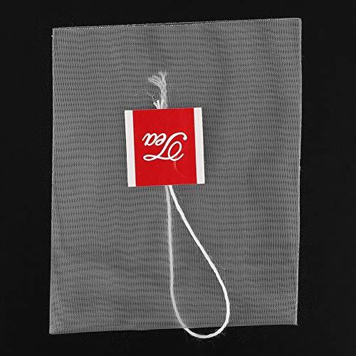 Bolsa de filtro con cordón inverso, 100 piezas de té de flores