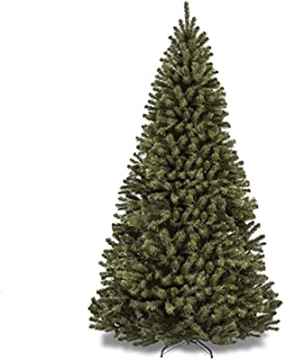 7.5FT Premium Spruce Hinged Artificial Christmas Tree Solid Metal Legs Stand 1346 Tips Indoor Home Office Apartment Holiday Season Christmas Décor Fresh Look Festive Atmosphere Flame Retardant