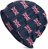 Whecom Strickmützen, UK Flag Union Jack Valentine Funny Upgrade Hip-hop Adult Pullovers, Adult Knit Beanie Warm Knit Ski Skull Cap Beanie Mütze One Size für Damen und Herren