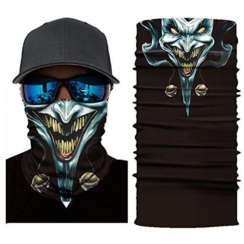 3D-Skimaske Ghost Balaclava Skull Radfahren Snowboard Schal Halswärmer Face-Shield Bike Bandana Sturmhaube für Halloween