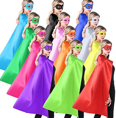 ADJOY Superhero Capes and Masks for Teenagers Adult Girls and Boys Team Spirit Building Capes product image