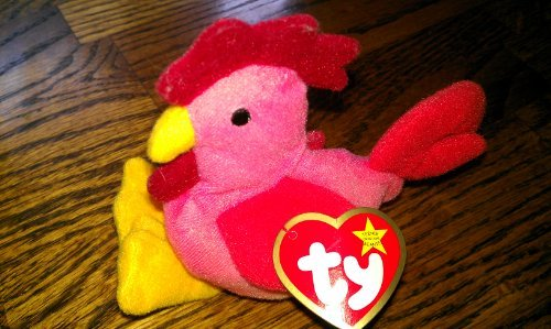 TY - McDonalds - Teenie Beanie Babies (1999) - US Edition - #7 Strut the Rooster by Ty