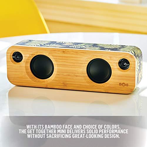 House of Marley Get Together Mini Sistema de audio Bluetooth inalámbrico portátil, puerto USB para cargar otros dispositivos, reproducción de hasta 8 h, 24 W, entrada auxiliar, Palm