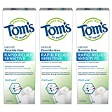 Tom's of Maine Fluoride-Free Rapid Relief Sensitive Toothpaste, Fresh Mint, 4 oz. 3-Pack