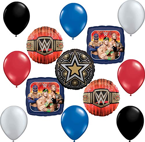 WWE Party Supplies 13 pc Balloon Bouquet Decoration