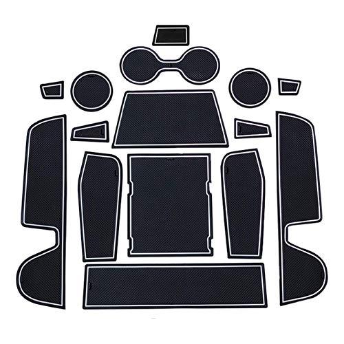 L Para Mazda 3 Axela 2019 2020 Goma de la puerta de la puerta del coche Pad Ranura antideslizante Pista de la puerta / taza Anti deslizamiento Puerta Matada de la puerta Adorte Accesorios Interior
