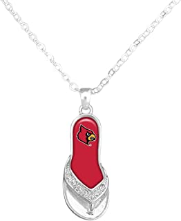 Details about  /Louisville Cardinals Red School Letter Logo Charm Pendant in Sterling Silver