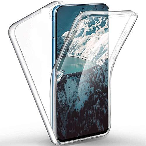 ToDo eu Hülle 360 Grad kompatibel mit Huawei Honor View 20 Handyhülle Silikon Crystal Full Schutz Cover [ 2 in 1 Separat Hart PC Zurück + Weich TPU Vorderseite ] Schutzhülle Dünn Ganzkörper Hülle