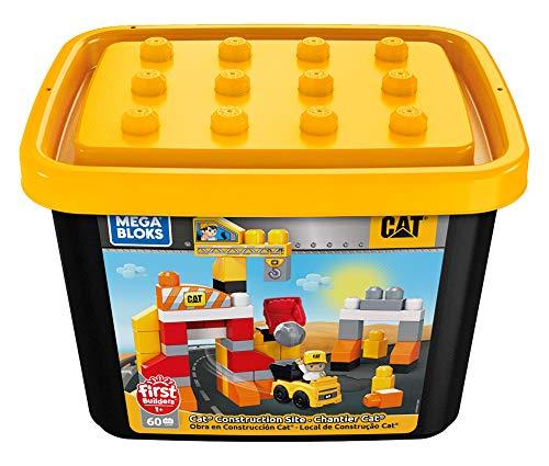Mega Bloks GJH44 - Mega Bloks CAT Baustelle, 60 Teile