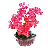 MEELLION 4.7 '' Feng Shui Wealth Crystal Money Tree Home/Office Decor Business Gifts - # 3, como se Describe Love of a Lifetime (Color : #3)