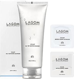 LAGOM(ラゴム) 日本正規品 【サンプル付】ジェルトゥーウォータークレンザー 220mL(朝用洗顔料) オーキッド 1 個 日本正規品
